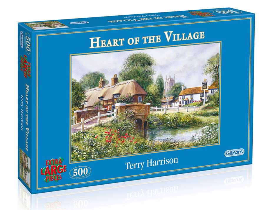 Heart of the Village by Terry Harrison 500 XL piece puzzle