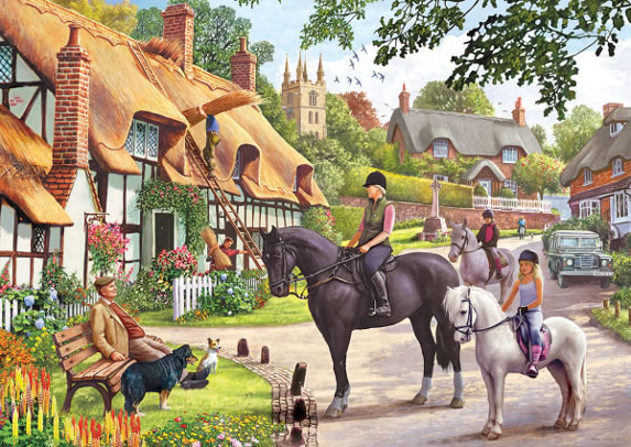 A Ride with Mum by Steve Crisp 500 piece jigsaw puzzle