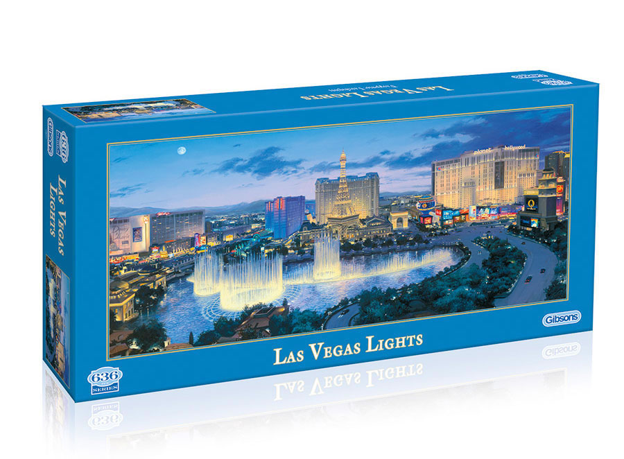Las Vegas Lights by Eugene Lushpin 636 piece puzzle
