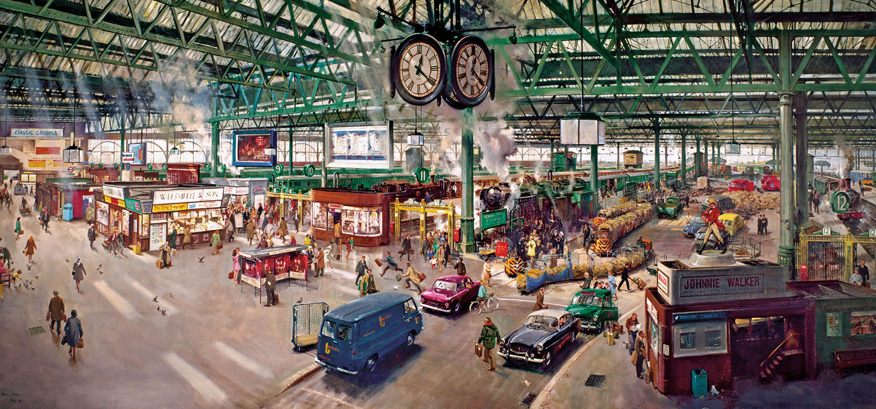 Under the Clock by Terence Cuneo 636 jigsaw puzzle