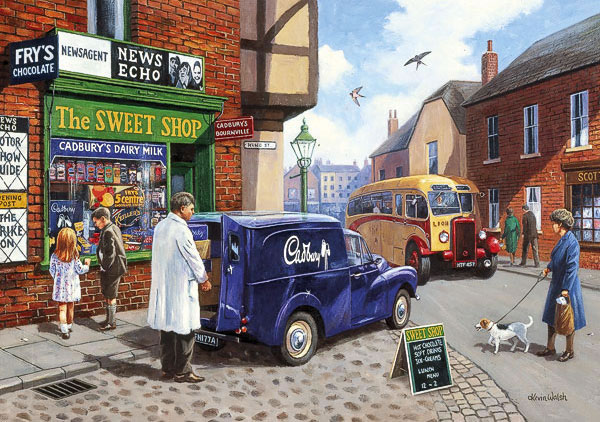 The Sweet Shop by Kevin Walsh 1000 piece jigsaw puzzle