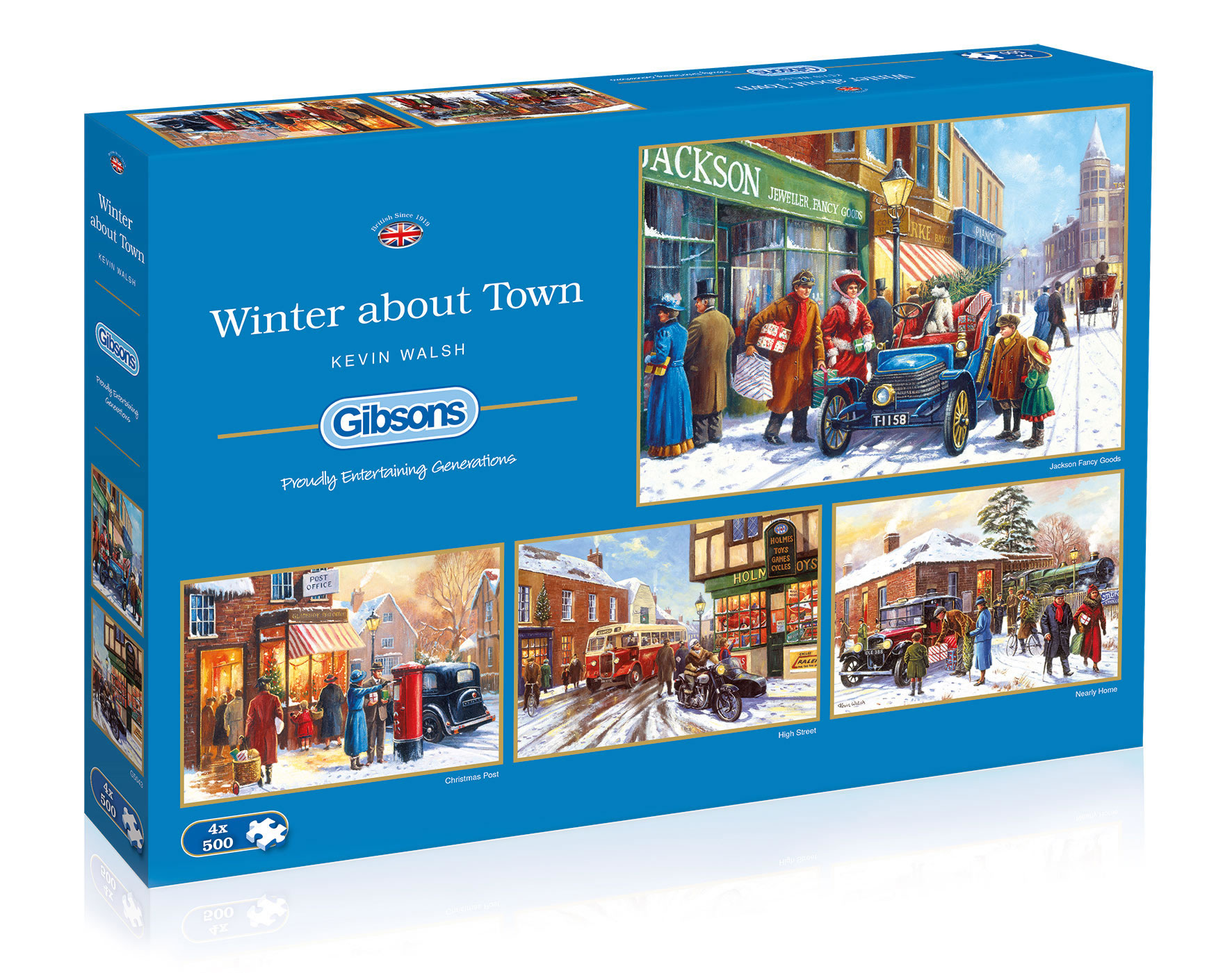 Winter About Town by Kevin Walsh 4 x 500 puzzle box set