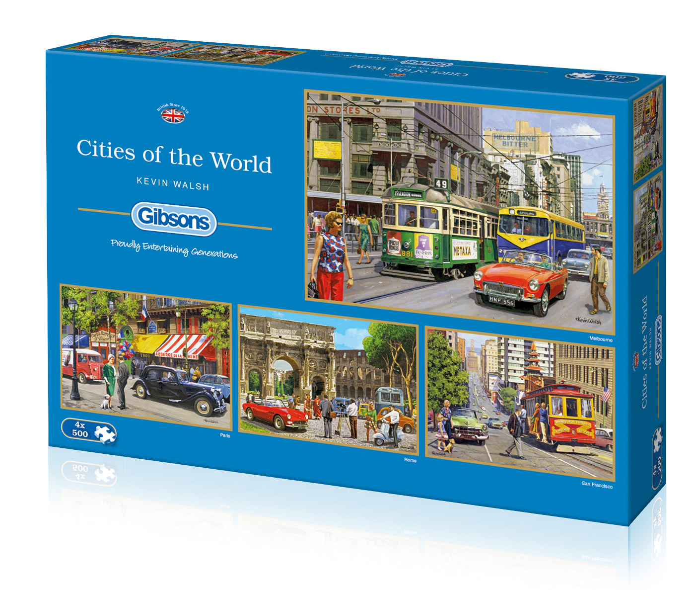 Cities of the World 4 x 500 Box puzzle set