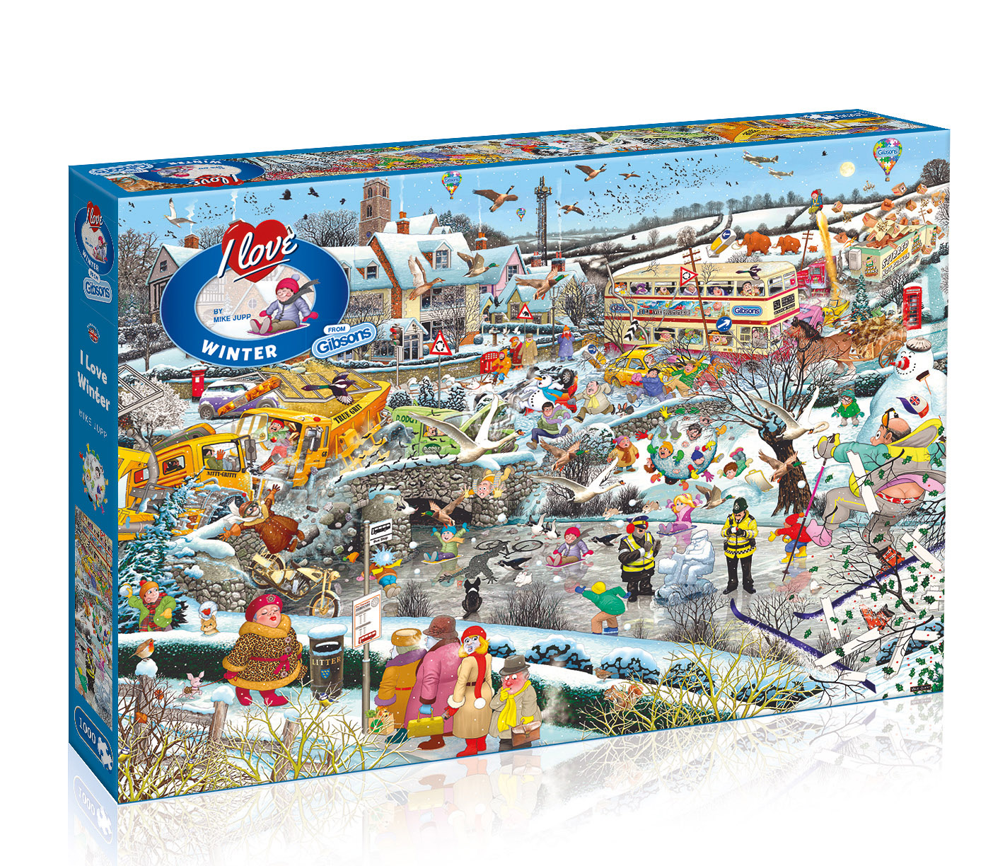 I Love The Weekend 1,000 Piece Jigsaw Gibsons Puzzle