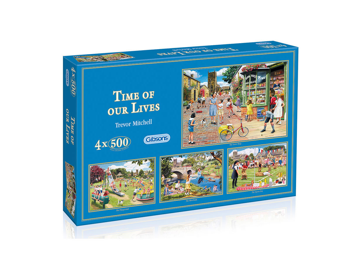 Time of our Lives by Trevor Mitchell 4 x 500 piece puzzles